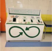 Terracycle recycling center in the cafeteria.