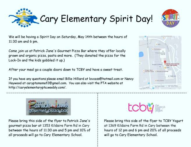 CaryElementary_TCBY_SpiritDay